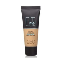 Maybelline New York Foundation Fit Me Matte And Poreless Sun Beige 250 30ML