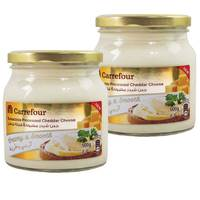 Carrefour Spreadable Processed Cheddar Cheese 500gx2