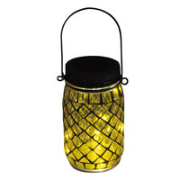 Carrefour Solar Led Glass Jar Yellow
