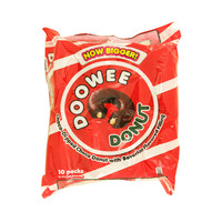Doowee Donut Choco Dipped Choco Donut with Bavarian Flavored Filling 44gx10