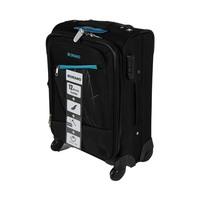 مورانو حقيبة سفر خامة ناعمة 4 عجلات مقاس 20 انش لون أسود