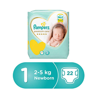 Pampers Premium S1 Carry Pack 22 Sheets -8% Off