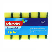 Vileda Tip Top Dish Washing Medium Foam Sponge Scourer 5Pcs