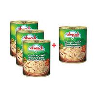 Al Wadi Al Akhdar Mushrooms 400GR X 3 + 1 Free