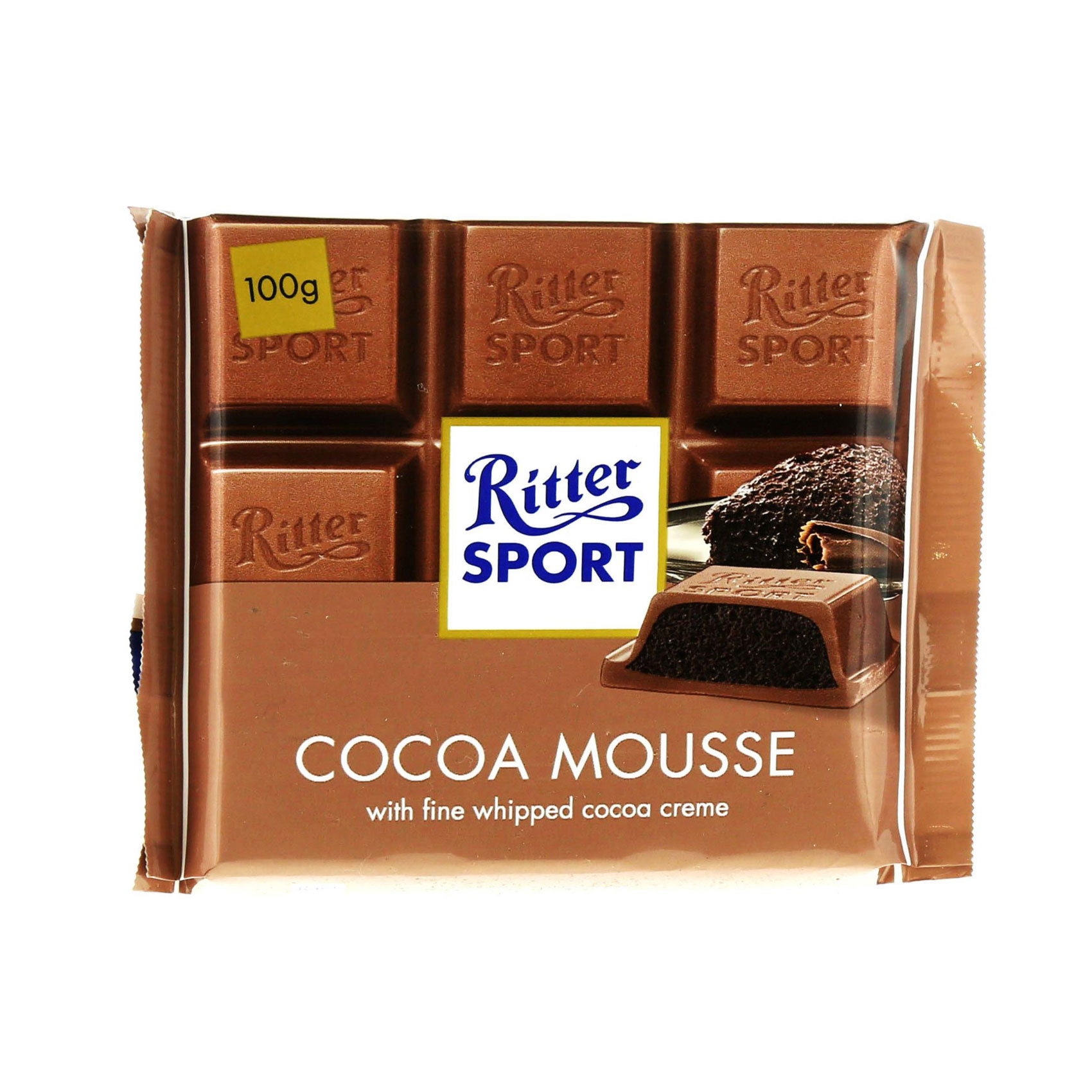 RITTER SPORT COCOA MOUSSE 100GM