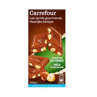 Carrefour Milk Chocolate With Hazelnuts 200GR