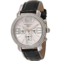 Mount Royale Men's Watch White Dial Leather Band Sport-7M31 LBST