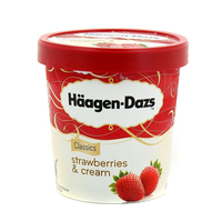 Haagen Dazs Ice Cream Strawberries & Cream 500ml