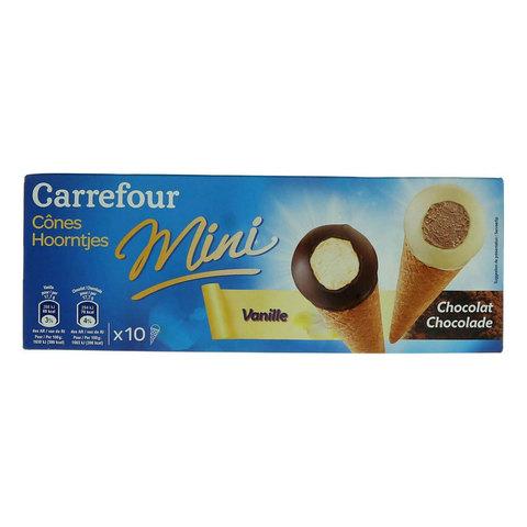 Carrefour-Ice-Cream-Cones-Mini-Black-&-White-Chocolate-25g-x10