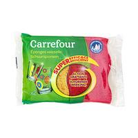 Carrefour Eponges Vaisselle X2