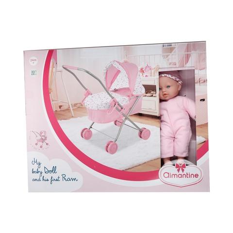 Doll-With-Trolley-Pram-30-Cm-Age-3-Years