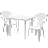 Cosmoplast Squ Table & Armchairs X2