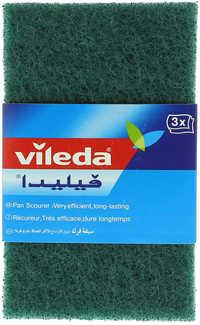 Vileda Dish Washing Scourer / Scouring Pad 3 Pieces
