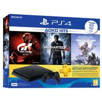 Sony PS4 500GB Console+3 Games+3 Months Live Subscription