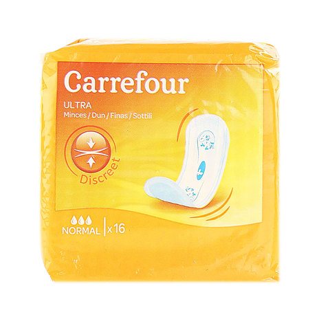 Carrefour-Pads-Ultra-Thin-Normal-Non-Wings-x16