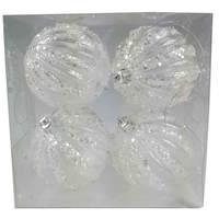 Balls Set 4Pcs 80Mm Transparent Pumpkin Icy