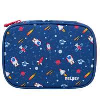 Delsey School 2018 Large Pencil Box Navy Galaxy