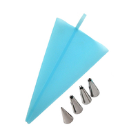 Big Icing Bag With 4 Stainless Steel Nozzles Decoration