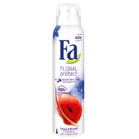 Fa Floral Protect Poppy & Bluebell Deodorant 200ml