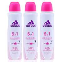Adidas Deodorant 6 In 1 Cool And Care Female 150 Ml 3 Pieces