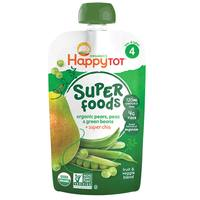 Organics Happy Tot Super Foods Organic Pears, Peas & Green Beans + Super Chia 120g