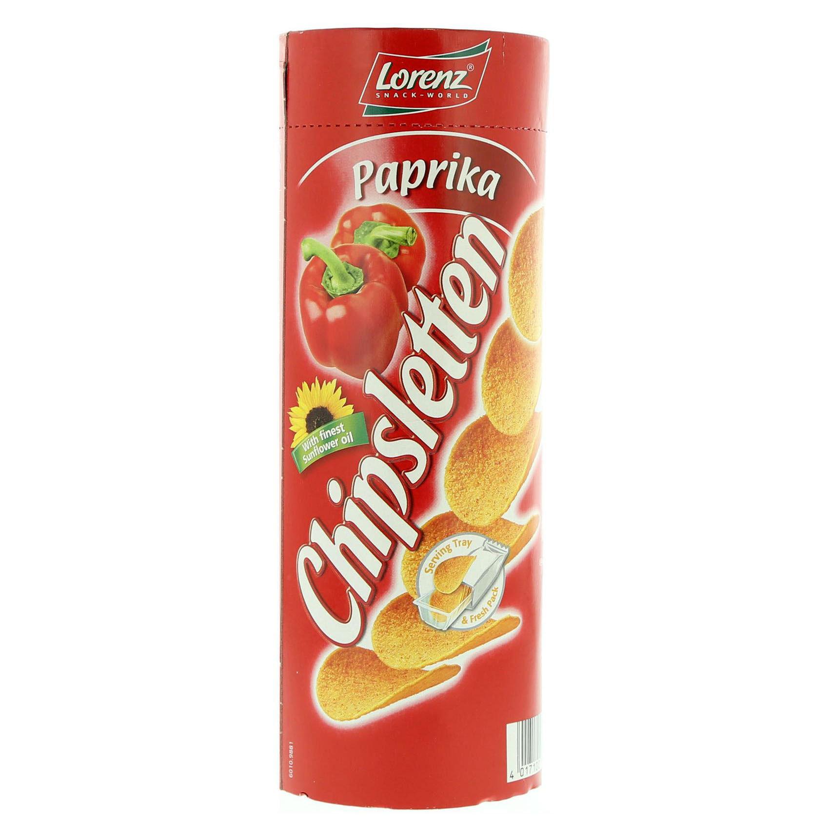 LORENZ CHIPSLETTEN PAPRIKA CL 100G