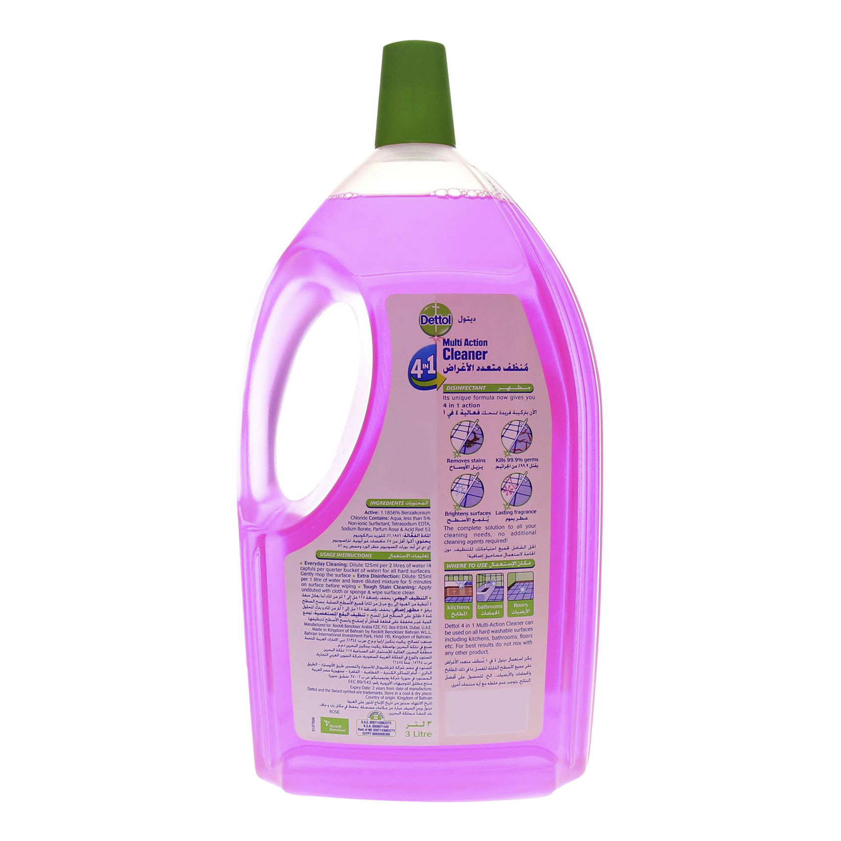 DETTOL MAC 4 IN 1 ROSE 3L