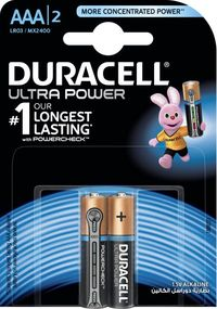 Duracell Ultra Power Battery AAA Alkaline Pack Of 2 Pieces