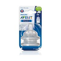 Philips Avent Classic+ Teats Slow Flow 2 Holes 1 Months+