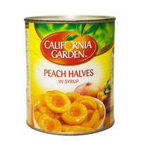 California Garden Peach Halves In Syrup 825g