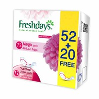 Freshdays Ladies Pads Long Scented Economy 72+24 Napkins