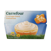 Carrefour Soft Cheese Vanilla 20% 100 g 8 pieces