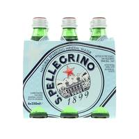San Pellegrino Carbonated Natural Mineral Water 6 x 250 ml