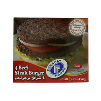 Freshly Foods 4 Beef Steak Burger 454g