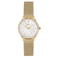 Lee Cooper Women's Analog Gold Case Gold Super Metal Strap White Dial -LC06304.130