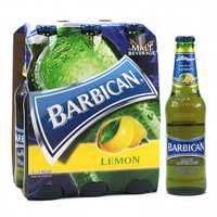 باربيكان شراب شعير بنكهة الليمون زجاج 330 مل 6 حبات