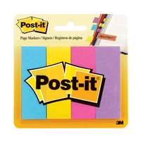 "3M Post-it Page Markers, 1"" x 3"", 50/Pad, 4 Pads/Pack"