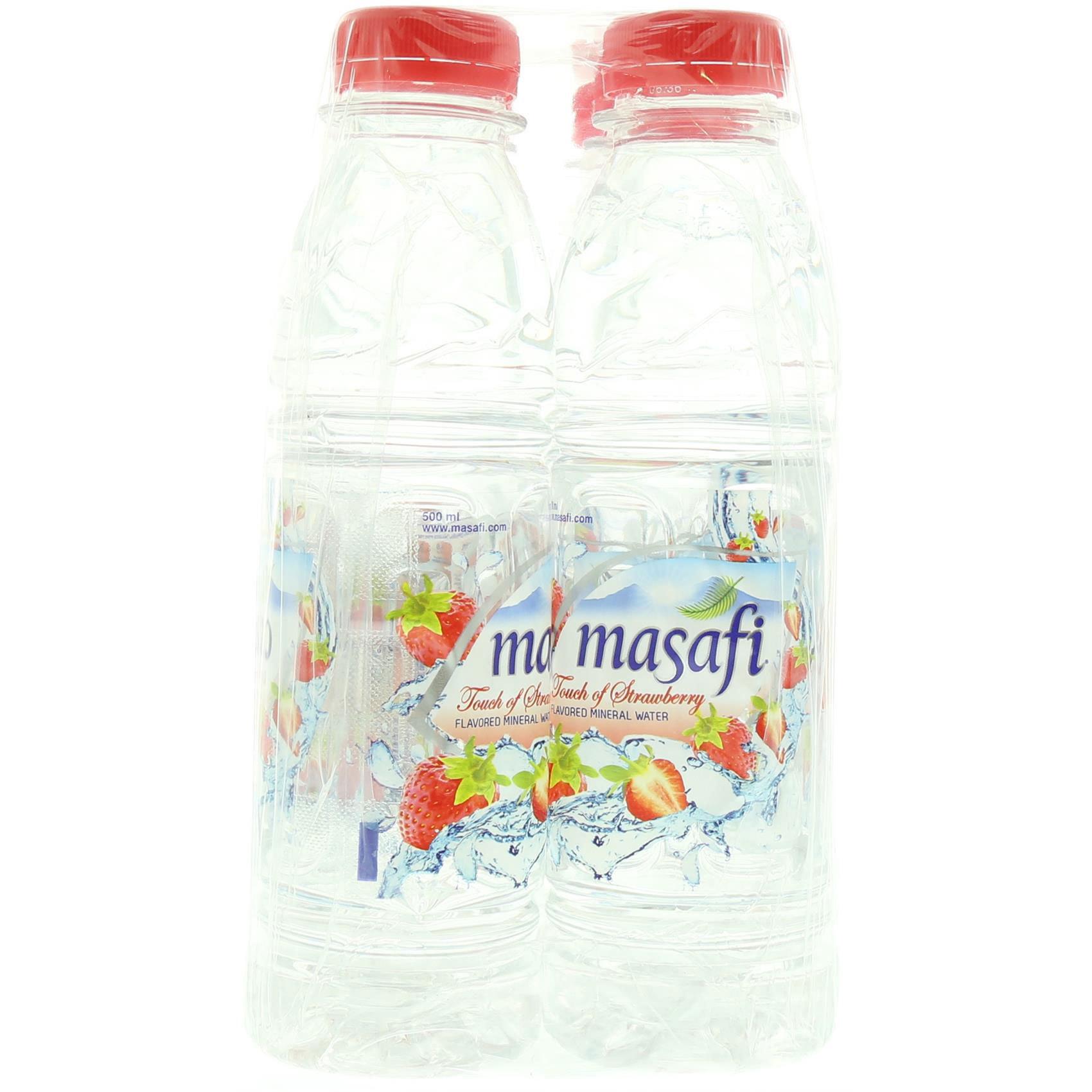 MASAFI WATER STRAWBERRY 500MLX6