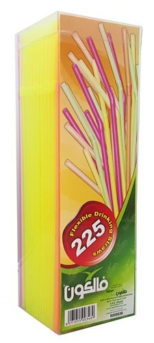 FALCON STRAWS COLOR 5MM 225PC