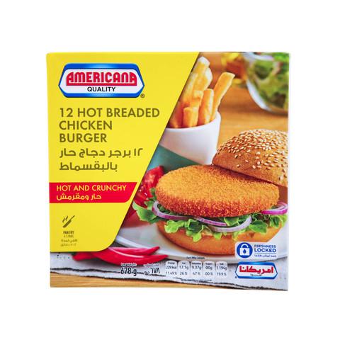 Americana-12-Hot-Breaded-Chicken-Burger-Hot-&-Crunchy-658g
