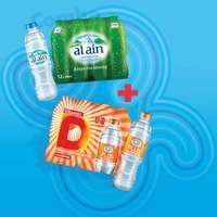 Al Ain Drinking Water 500mlx12 + Al Ain Plus Vitamin D Water 500mlx12