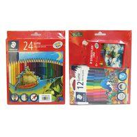Steadtler Luna 24 Color Pencils + 12Felt Tip Pens + 24 Crayon