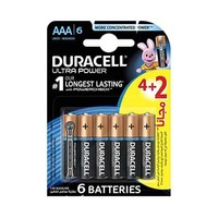 Duracell Ultra Power Type AAA Alkaline 4+2 Free