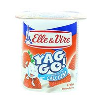 Elle & Vire Yag Go Strawberry Dessert 125g