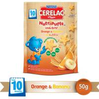 Nestle Cerelac NutriPuffs From 10 Months With Orange and Banana Bag 50 g