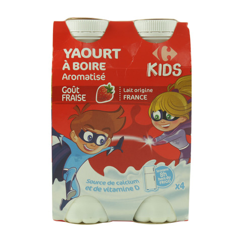 Carrefour-Strawberry-Drinking-Yoghurt-180g-x4