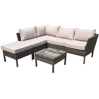 Carmen Steel Corner Set With Cushion 6Pcs  (Delivered In 7 Business Days)
