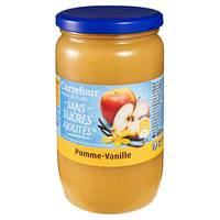 Carrefour Pure Fruits No Sugar Added Vanilla Apple 710g