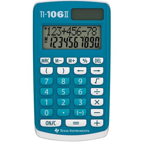Texas-Calculator-Pocket-Ti-106-2-Line-Display