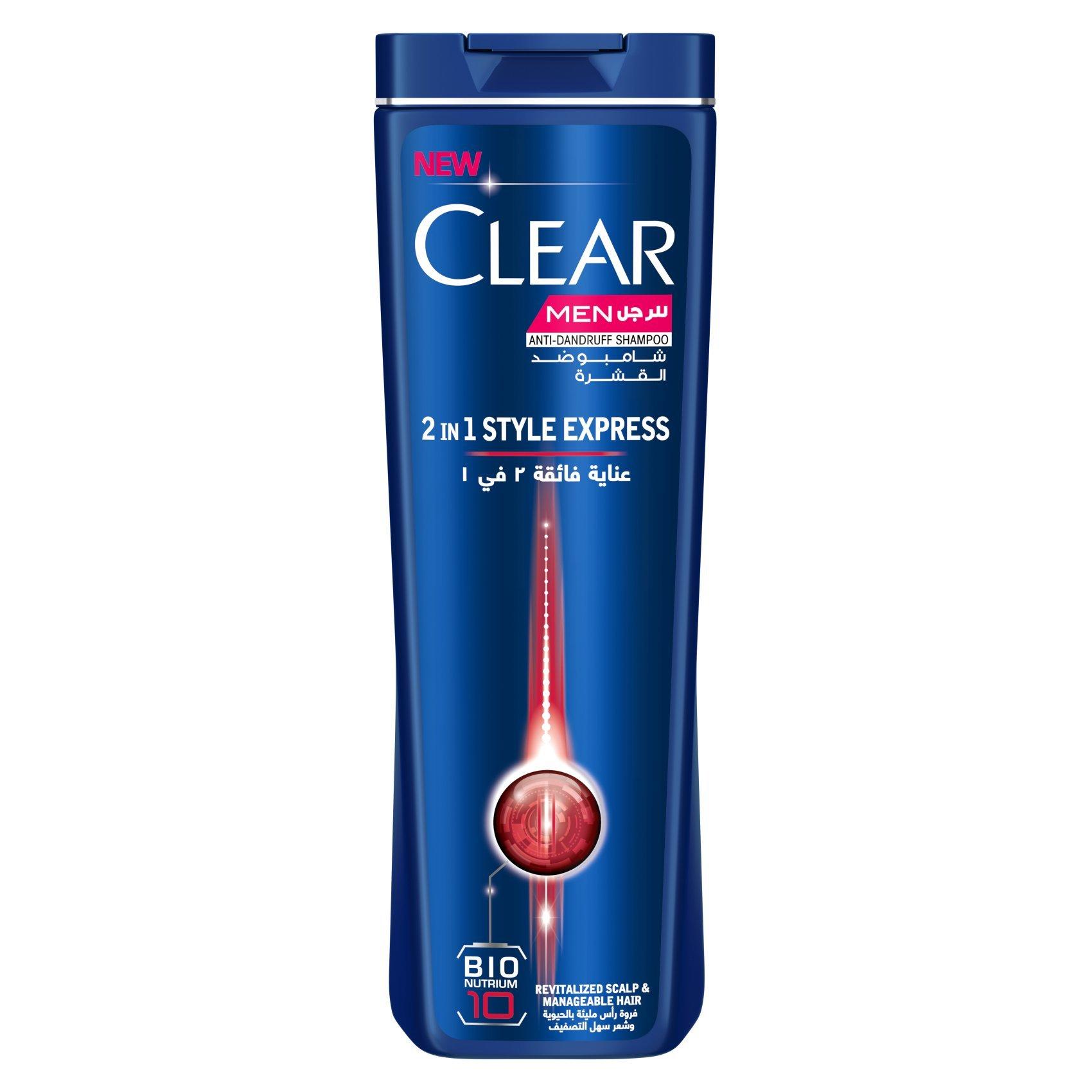 Clear Men's Anti-Dandruff Shampoo Style Express 2in1 400ml